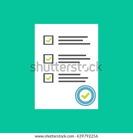 Survey Form Icon Vector Flat Style Stock Vector 568096198 ...