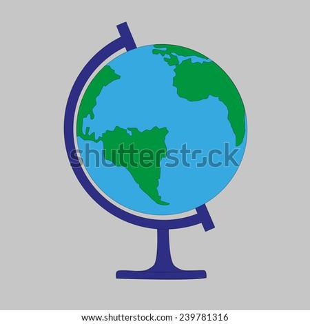 School globe - stock vector