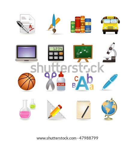 School icon set. Vector illustration