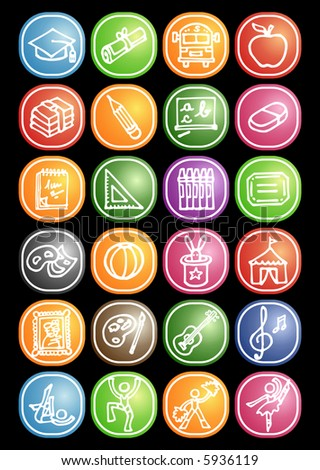 School icons - others of same series : http://www.shutterstock.com/lightboxes.mhtml?lightbox_id=498982