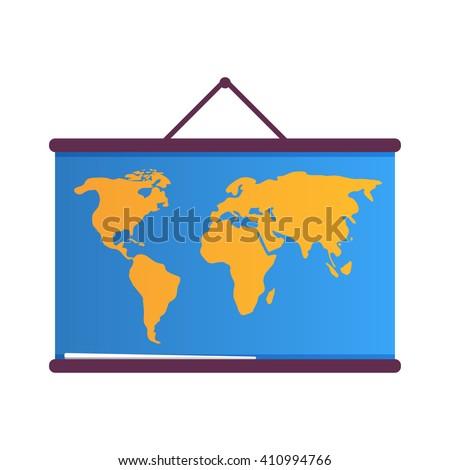 School map - stock vector