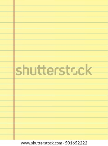 School notebook paper sheet. Exercise book page background. Lined notepad backdrop