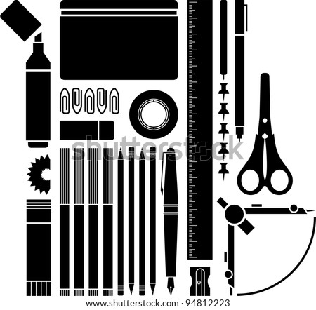 School / Office supplies - stock vector