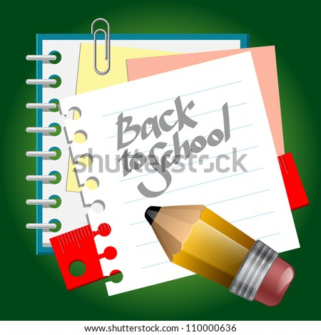 School paper notes. eps 10 - stock vector