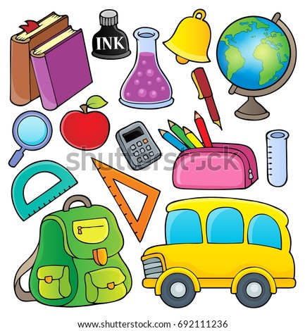 School related objects collection 1 - eps10 vector illustration.