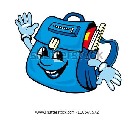 School satchel or bag for education design. Vector illustration - stock vector