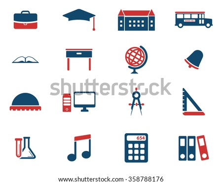 School simply icons for web