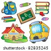 School supplies collection 1 - vector illustration. - stock vector
