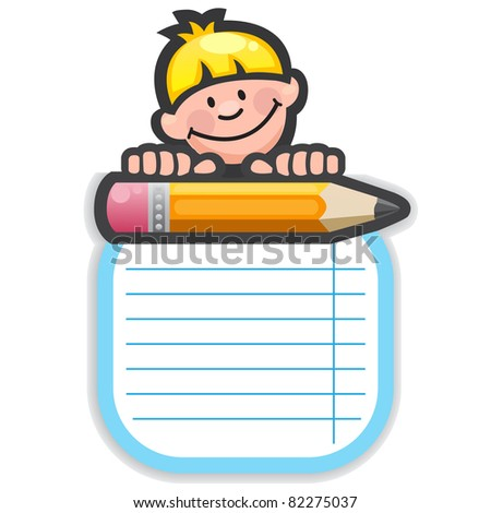 School template, frame - stock vector