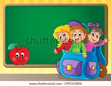 School thematic image 2 - eps10 vector illustration. - stock vector