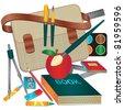 School themed vector illustration - stock vector
