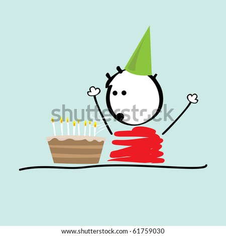 schoolboy b-day - stock vector
