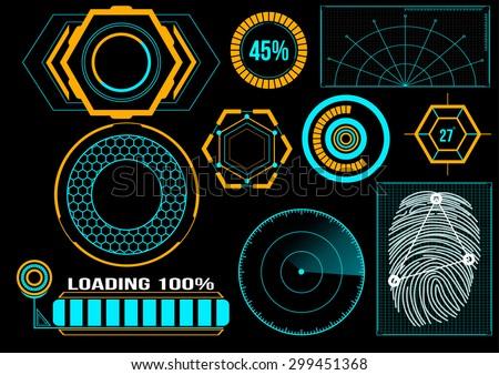 Sci Fi Futuristic User Interface Hud Stock Vector