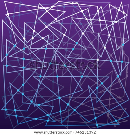 Sci Fi Pattern Abstract Blue Color Background Purple Wallpaper Design