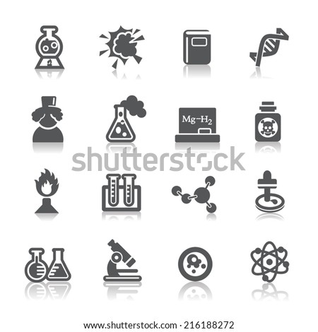 Science and Chemistry Icon - stock vector