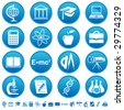 Science and education icons - stock vector