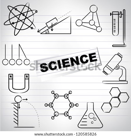 science background, science drawing line on school paper