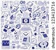 Science - doodles set - stock vector