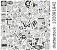 Science - doodles set - stock photo