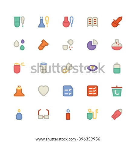 Science flat bold Vector icon 11 - stock vector