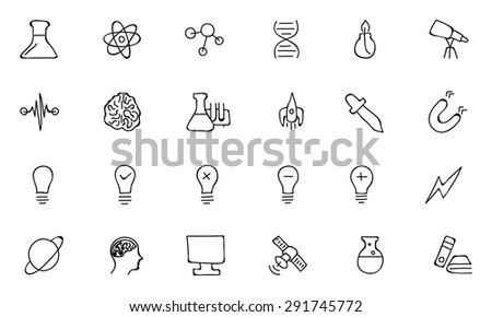 Science Hand Drawn Doodle Icons 1 - stock vector