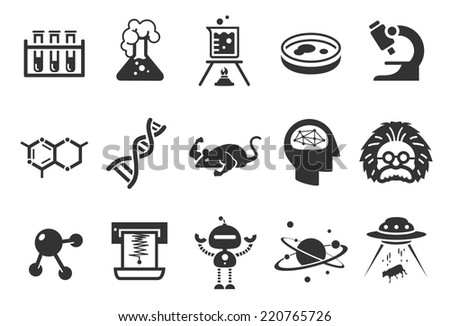 Science icons - Illustration - stock vector