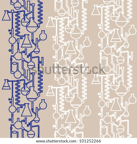 Science lab banner seamless vector - stock vector