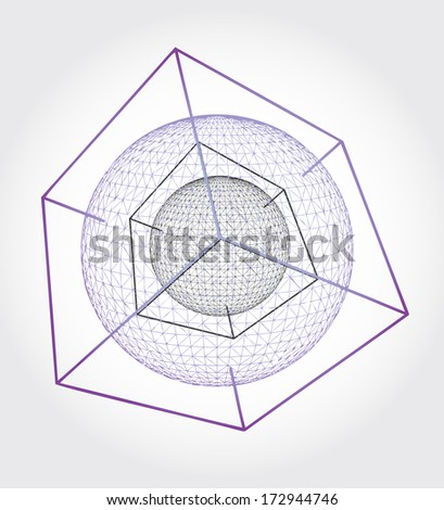 Science object illustration - graphic element - stock vector
