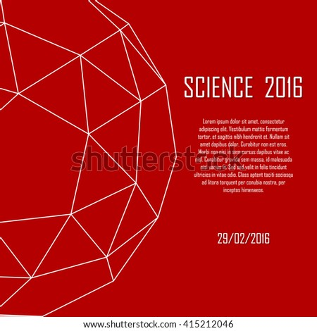 Science poster. Geometry - platonic solid. Illustration for your event, presentation, science report, lecture, conference, convention, congress - stock vector
