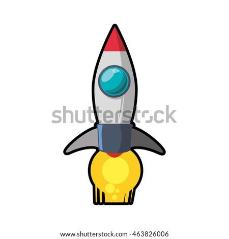 Rocket Icon Space Vector Spaceship Technology Stock Vector ...