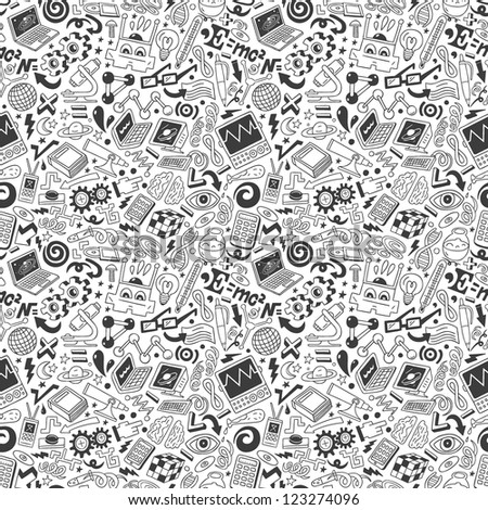 Science - seamless pattern - stock vector