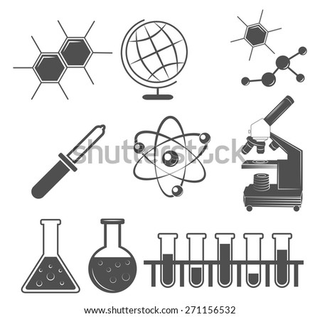 science set icons - stock vector