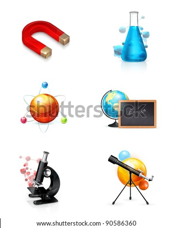 Science, set of vector icons