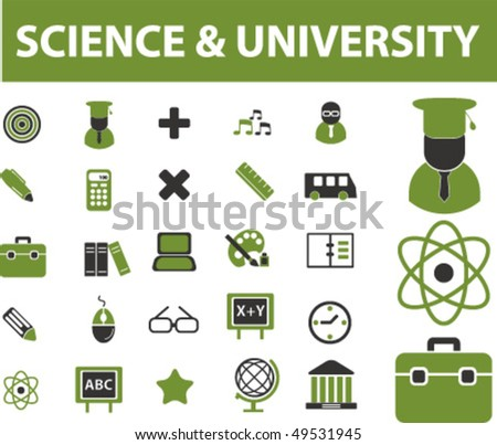 science signs. vector