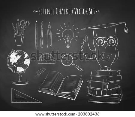 Science vector set. - stock vector