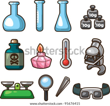 Science Web Icons - stock vector