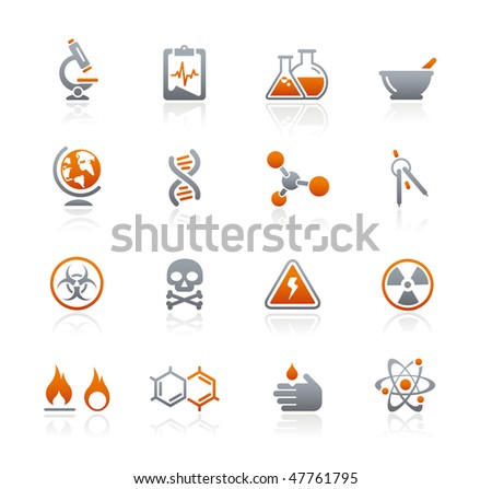 Science Web Icons // Graphite Series - stock vector
