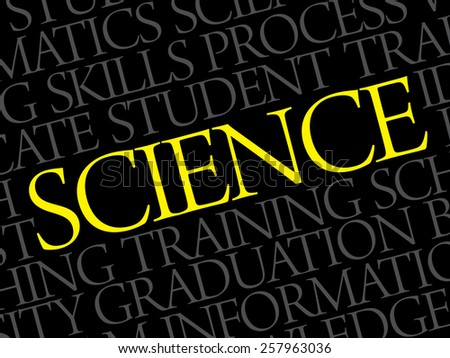 SCIENCE word cloud, education business concept - stock vector