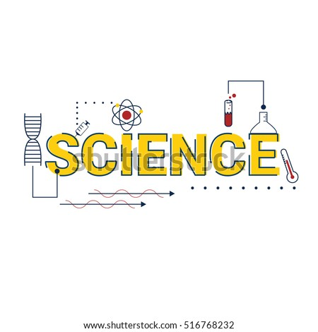 Illustration Science Word Stem Science Technology Stock ...
