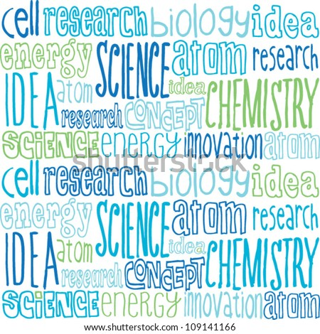 Science words seamless vector - stock vector