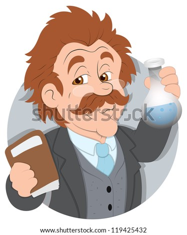 Scientist - Vector Character Illustration - stock vector