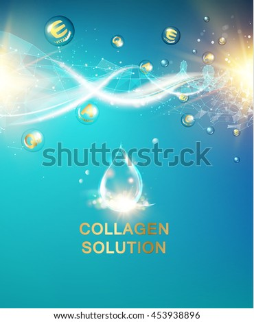 Scince illustration of a DNA molecule. Organic cosmetic and skin care cream. Vector illustration. - stock vector