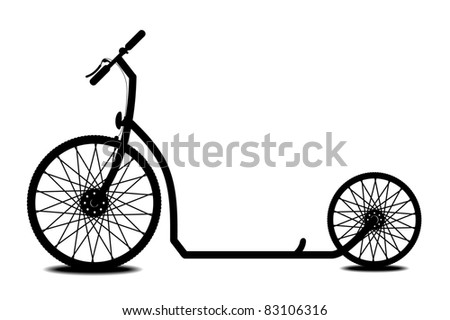 Scooter - stock vector