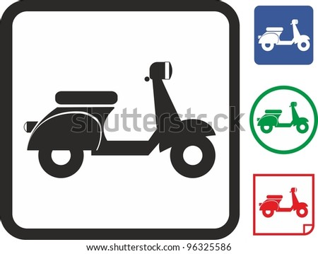 Scooter bike vector icon - stock vector