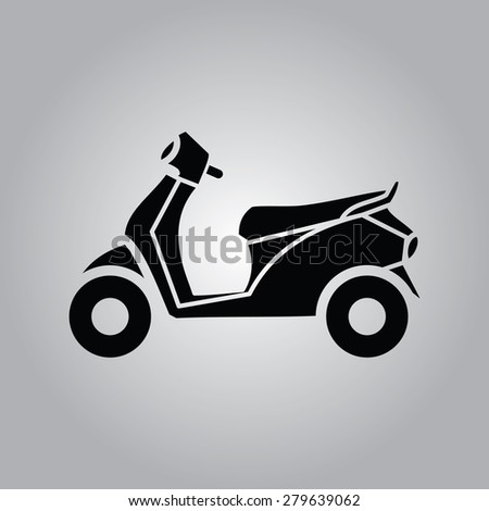 Scooter Icon. - stock vector