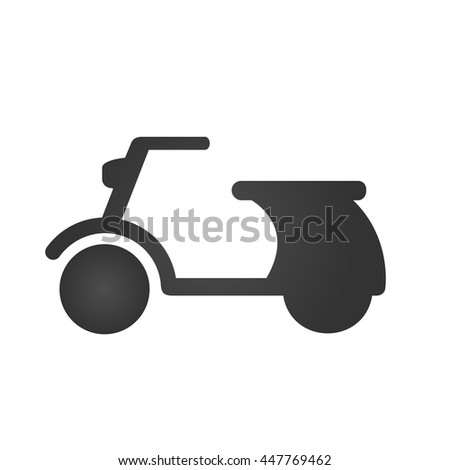 Scooter icon isolated on a white background. Vector illustration. - stock vector