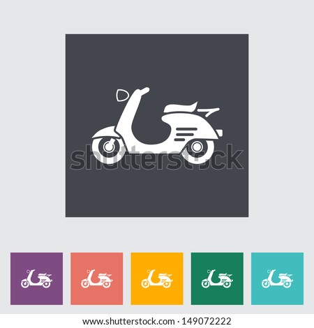 Scooter. Single icon. Vector illustration. - stock vector