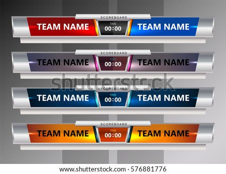Football Scoreboard Images RoyaltyFree Images Vectors – Scoreboard Template