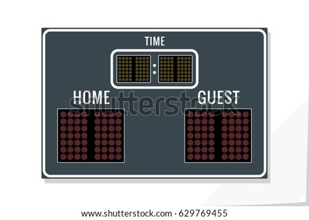 Scoreboard sport games blank digital score stock vector for Scoreboard template for powerpoint