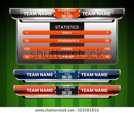 Football Scoreboard Stock Images RoyaltyFree Images  Vectors